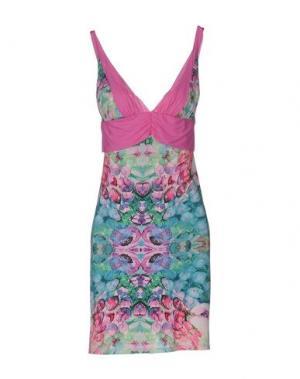 Короткое платье PAOLA FRANI. Цвет: светло-фиолетовый
