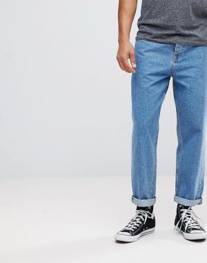 ASOS Синие расклешенные джинсы. Цвет: синий