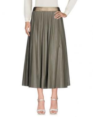 Длинная юбка SOUVENIR. Цвет: серый