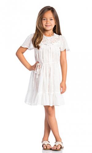 Мини платье roza Zimmermann. Цвет: белый