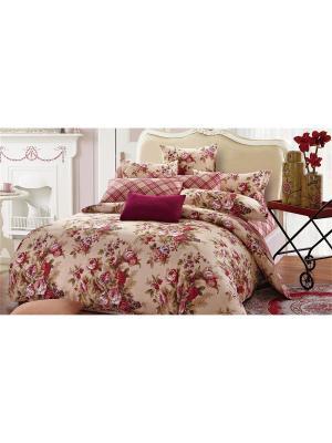 Постельное белье Romantika 1,5 сп. Amore Mio. Цвет: бежевый, бордовый