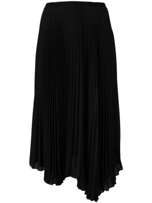 Асимметричная юбка со складками Loyd/Ford. Цвет: чёрный