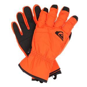 Перчатки сноубордические  Cross Glove Flame Quiksilver. Цвет: оранжевый