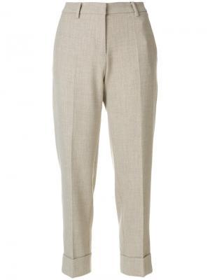Укороченные брюки Cambio. Цвет: телесный