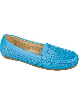 Мокасины Mursu. Цвет: голубой