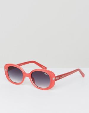 Quay Australia Красные квадратные солнцезащитные очки Lulu. Цвет: красный
