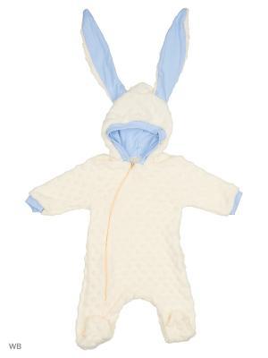 Комбинезон нательный для малыша Flip. Цвет: молочный, голубой