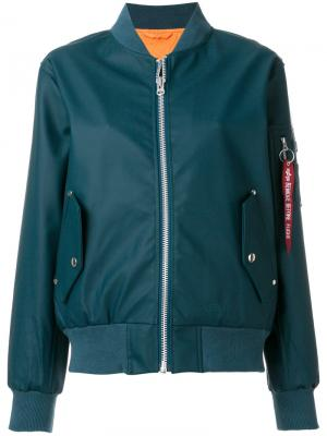 Куртка-бомбер на молнии Stutterheim. Цвет: синий