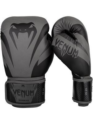 Перчатки Impact Grey/Black Venum. Цвет: черный, серый