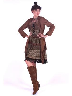 Жакет FORZA VIVA. Цвет: коричневый
