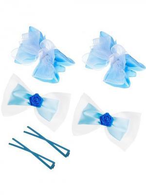 Набор аксессуаров для волос City Flash. Цвет: голубой, белый, синий