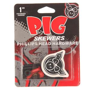 Винты для скейтборда  Skewers Red Phillips 1 Pig. Цвет: черный,красный