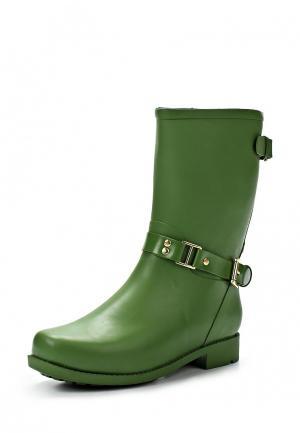Резиновые сапоги Boomboots. Цвет: зеленый