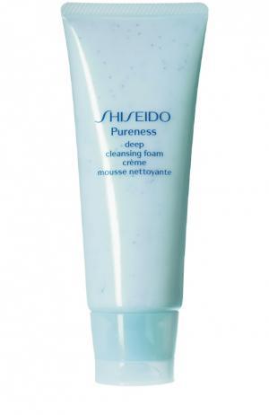 Пенка для глубокого очищения кожи Pureness Shiseido. Цвет: бесцветный