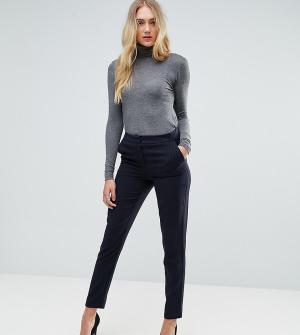 Y.A.S Tall Строгие брюки в полоску. Цвет: темно-синий