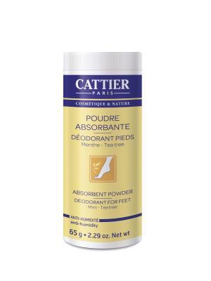 Cattier Пудра Дезодорант Для Ступней, Флакон 65 Г. Цвет: белый