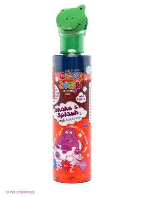 Пена для ванны развивающая Встряхни и смешай цвета, бордо Kids Stuff. Цвет: красный