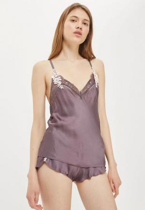 Пижама Topshop. Цвет: фиолетовый