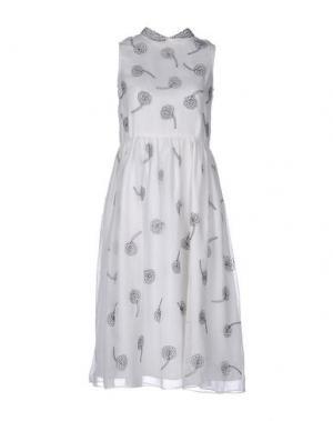 Платье до колена JUPE by JACKIE. Цвет: белый
