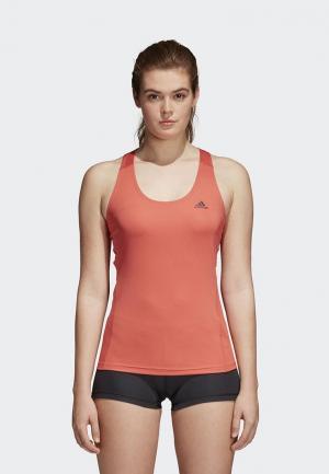 Майка спортивная adidas. Цвет: коралловый