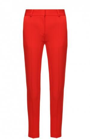 Укороченные брюки прямого кроя со стрелками Stella McCartney. Цвет: красный