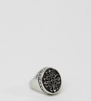 Reclaimed Vintage Кольцо-печатка Inspired. Цвет: серебряный