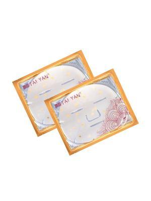 Маска для лица Фитоколлагеновая с лепесками Жасмина TaiYan, 60гр. 2 шт. TAI YAN. Цвет: прозрачный
