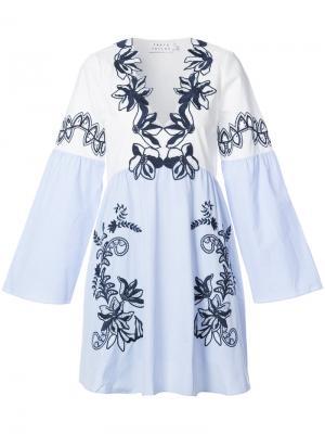 Платье-туника с цветочной вышивкой Tanya Taylor. Цвет: многоцветный