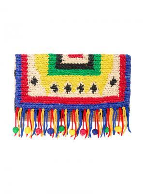Плетеный клатч Nalo Toquilla Sensi Studio. Цвет: многоцветный