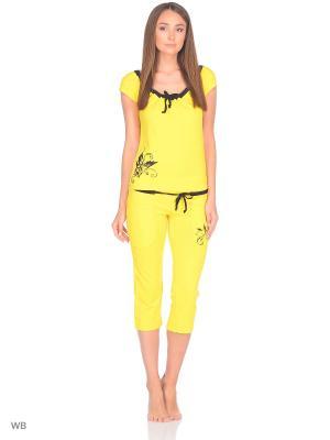 Пижама erteks. Цвет: желтый