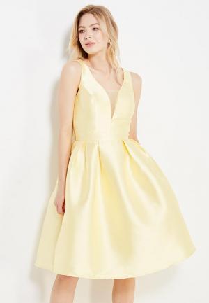 Платье Chi London. Цвет: желтый