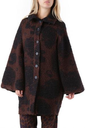 Пальто Cristina Gavioli. Цвет: коричневый