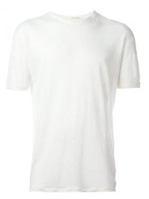 Классическая футболка Isabel Benenato. Цвет: белый