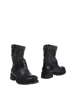 Полусапоги и высокие ботинки GIACKO. Цвет: стальной серый