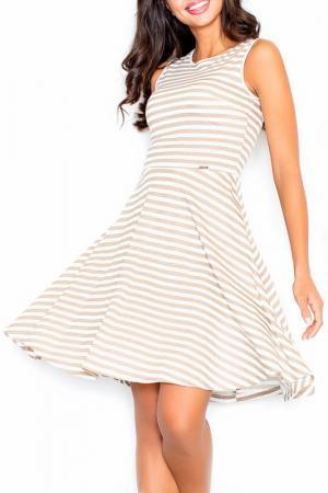Платье Figl. Цвет: бежевый