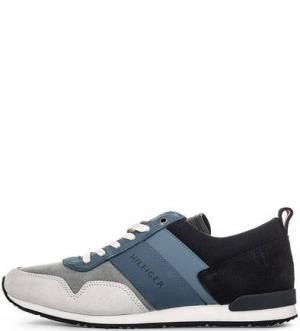 Кроссовки на шнуровке с втачной стелькой Tommy Hilfiger. Цвет: синий