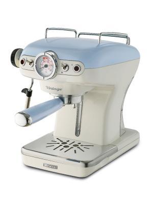Ariete Кофеварка эспрессо 1389 Vintage. Цвет бежевый. Мощность 850 Вт, 15 бар, р. Цвет: голубой
