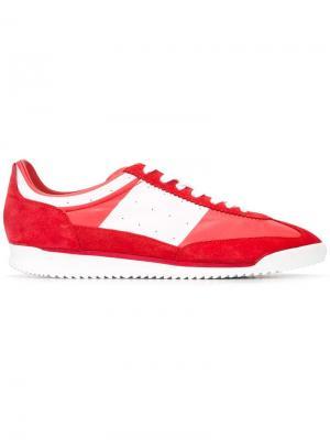 Кроссовки с панельным дизайном Maison Margiela. Цвет: красный