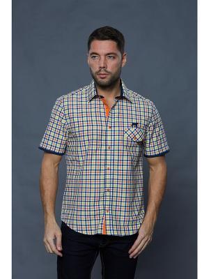 Рубашка John Jeniford. Цвет: синий, оранжевый