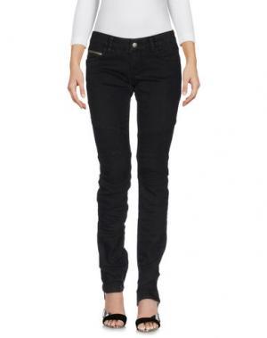 Джинсовые брюки POORICH. Цвет: черный