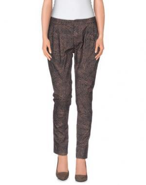 Повседневные брюки E-GÓ. Цвет: светло-коричневый