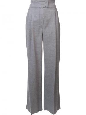 Классические брюки с завышенной талией Barbara Casasola. Цвет: серый