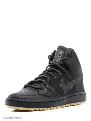 Кроссовки SON OF FORCE MID WINTER Nike. Цвет: черный