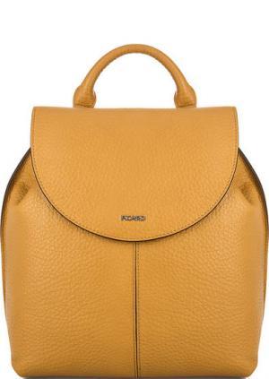 Желтый кожаный рюкзак с откидным клапаном Picard. Цвет: желтый