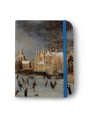 Флорентийская записная книжка. Зимний вид Лейдена Власта. Цвет: бежевый, синий, серый