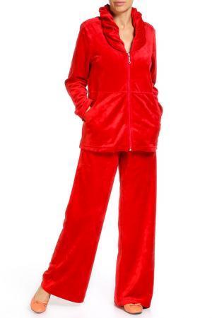 Домашний костюм MIKRONESSE. Цвет: рубин