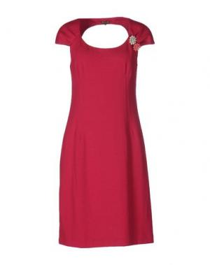 Платье до колена MALÌPARMI. Цвет: фуксия