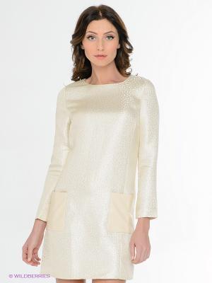 Платье EZANNA. Цвет: молочный, кремовый