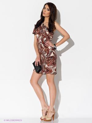 Платье Stets. Цвет: оранжевый, коричневый, бежевый
