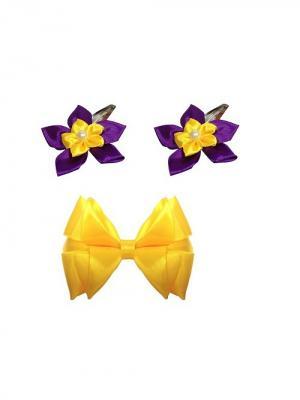 Набор аксессуаров для волос City Flash. Цвет: желтый, серебристый, фиолетовый